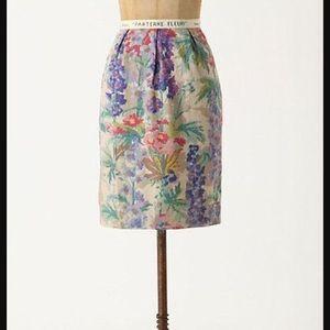 Anthropologie Floreat Gladiolus floral skirt